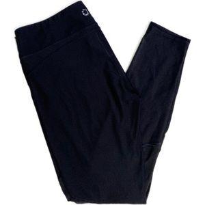 Steve Madden Quick-Dry Black Mesh Leggings - Large